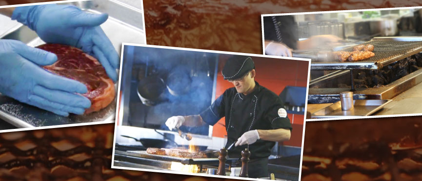 """Feelings to """"charcoal making steak"""" of BRONCO BILLY taste"""